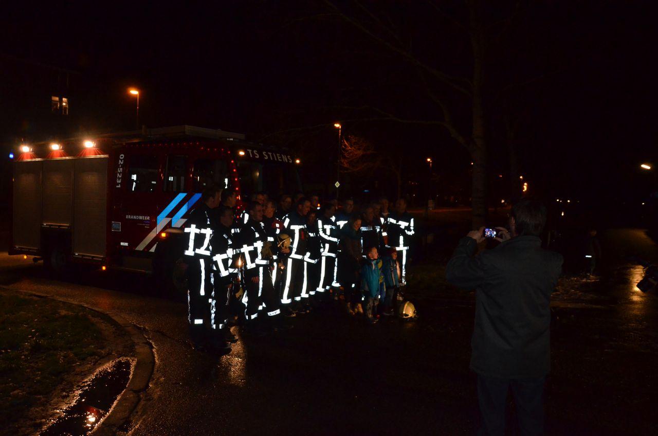 Buitenbrand in scene gezet voor afscheid brandweerman