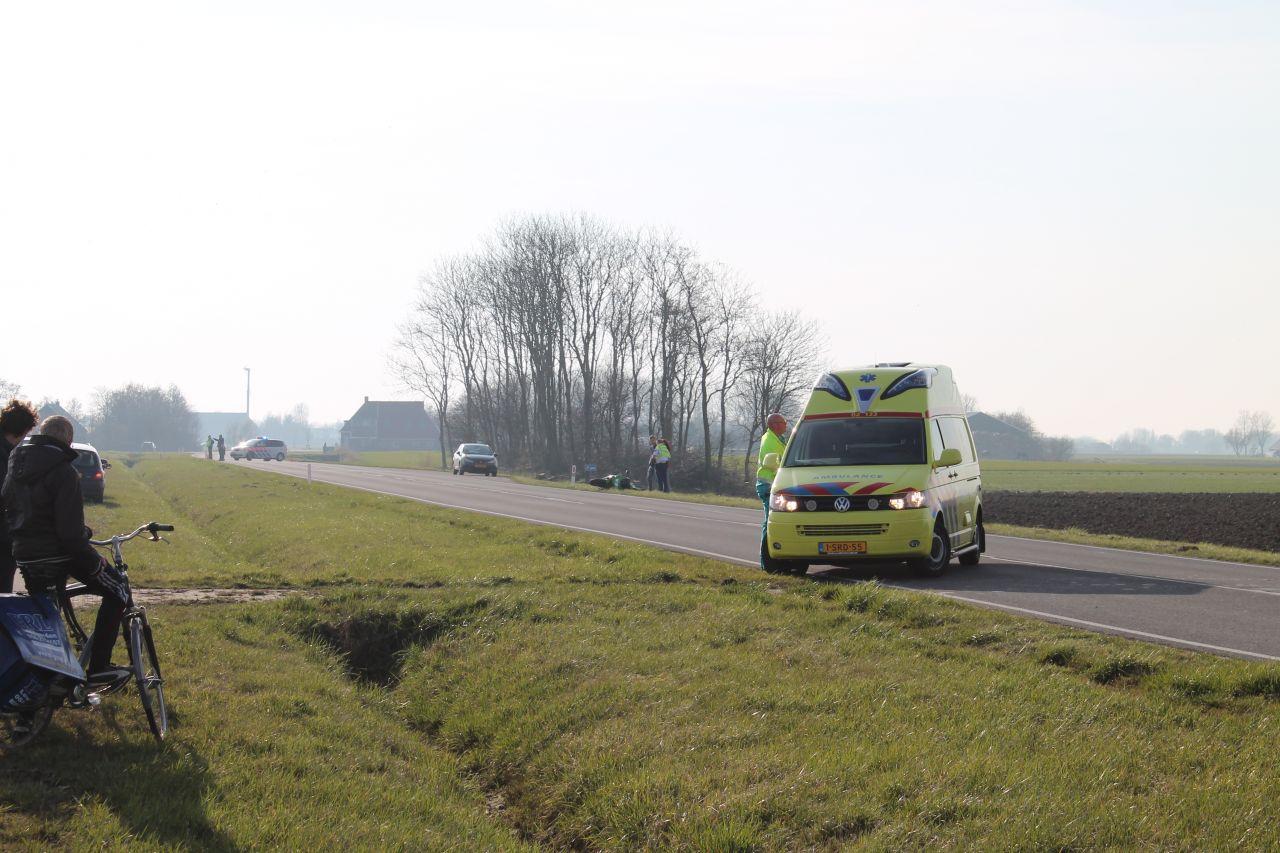 Motorrijder en fietser gewond na aanrijding