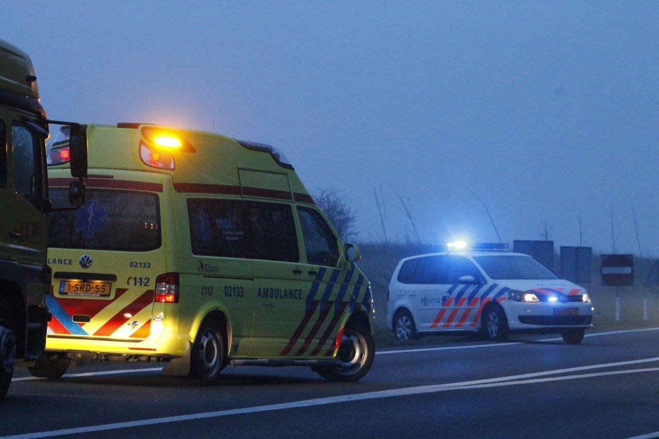 Geen gewonden bij eenzijdig ongeval N31