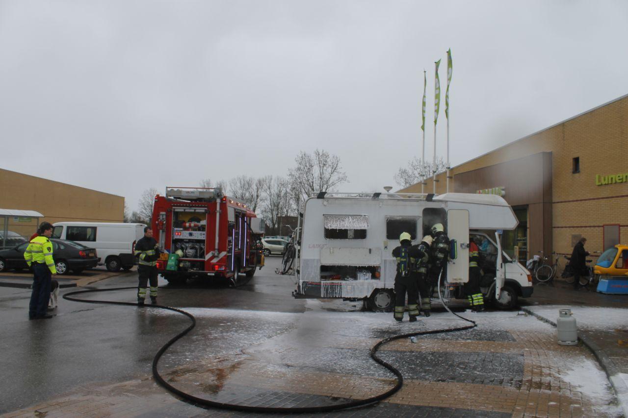 Brand door kortsluiting in camper