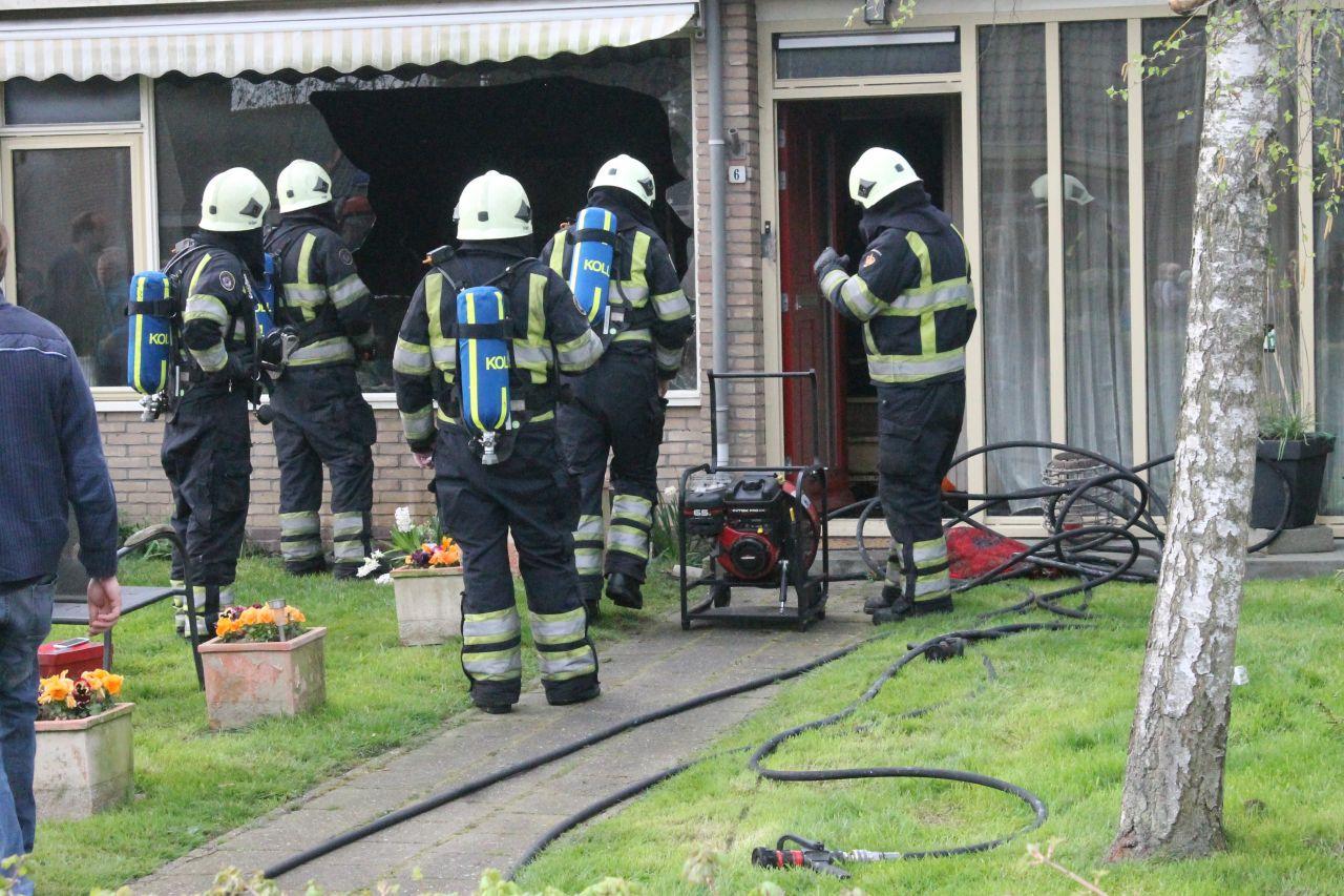 Woning fors beschadigd door brand