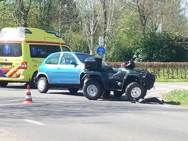 Bestuurder van quad gewond na ongeval