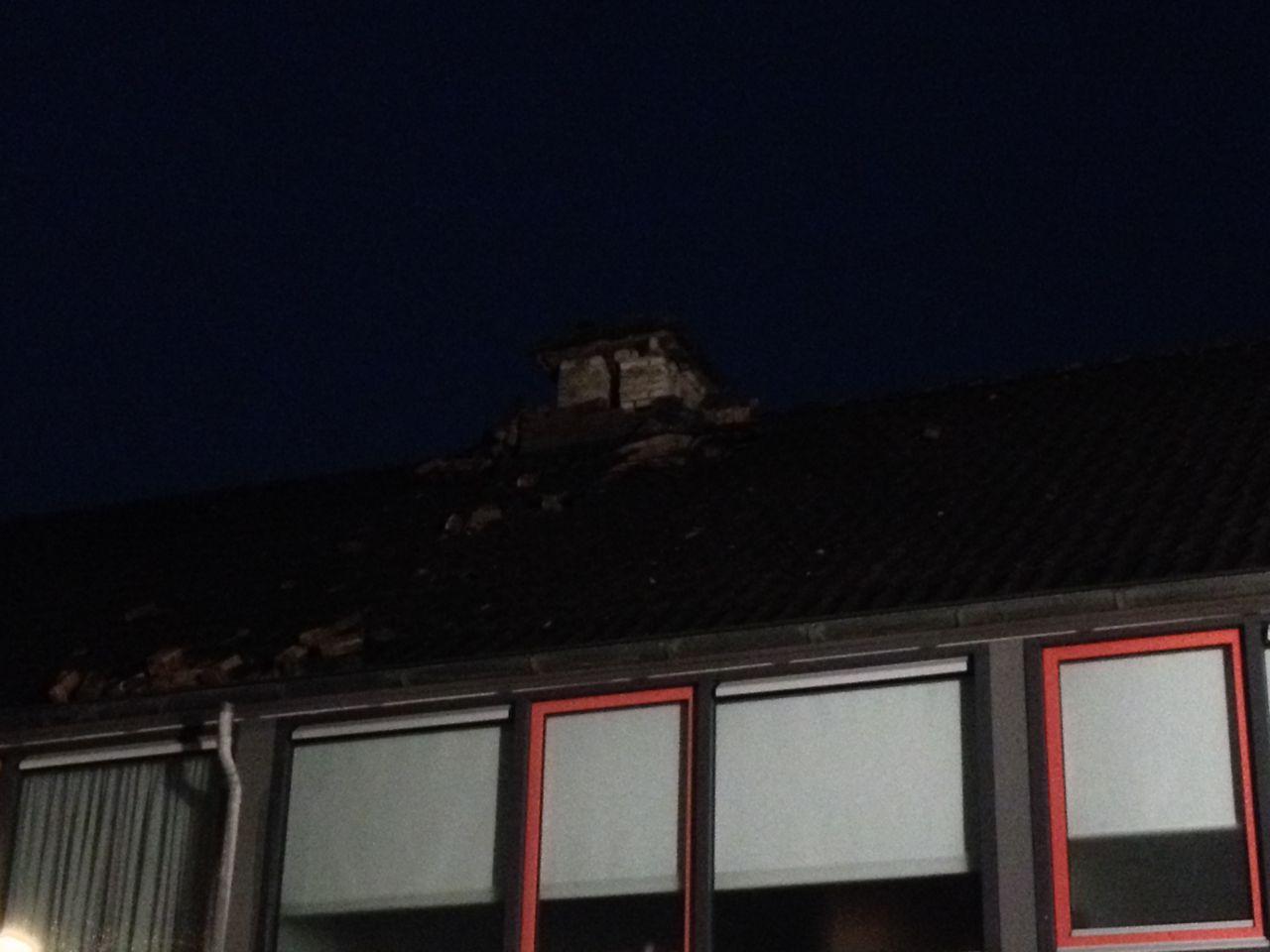 Bliksem ingeslagen na zware onweersbui