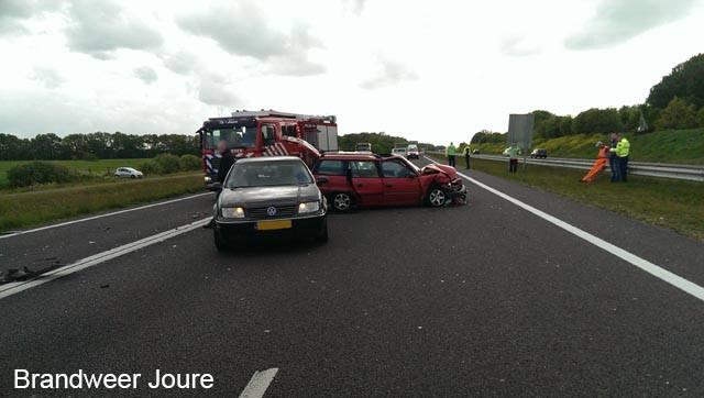 Vier auto's betrokken bij aanrijding A7