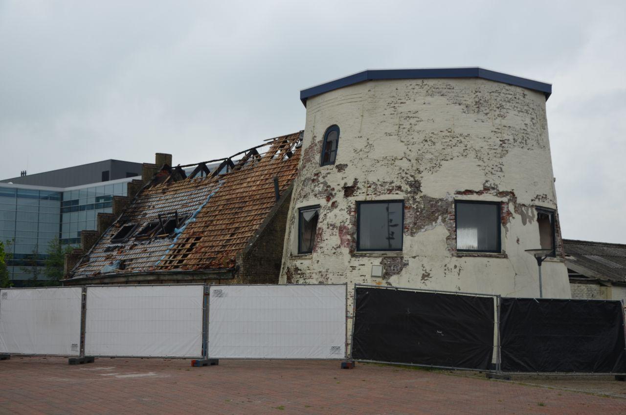 Brand bij molenromp: schade bij daglicht