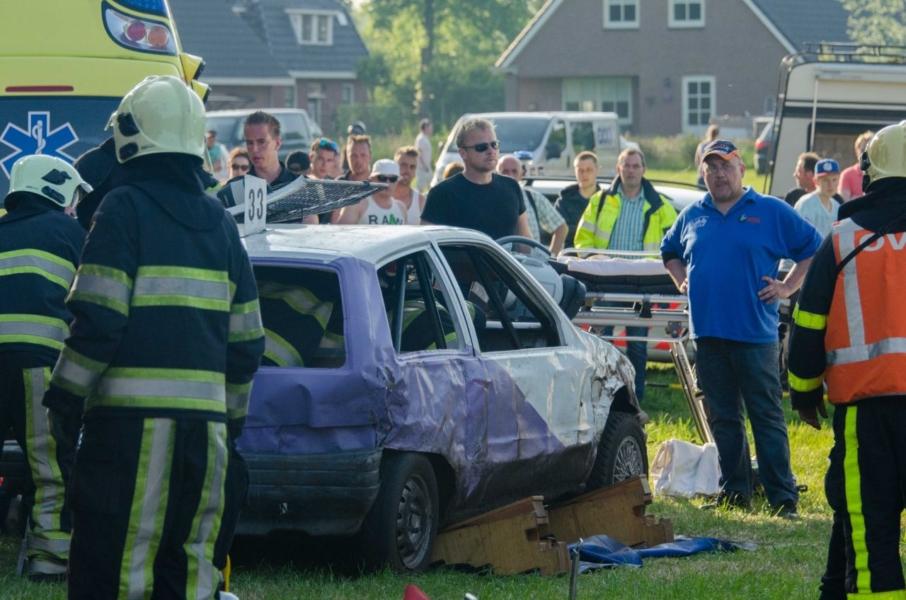 Ernstig ongeval op autocross