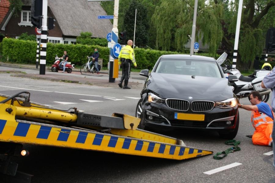 Aanrijding op kruising met verkeerslichten