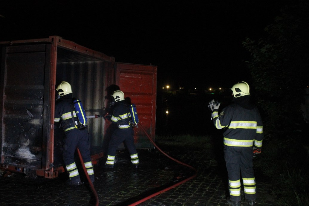 Brandweer blust papiercontainer