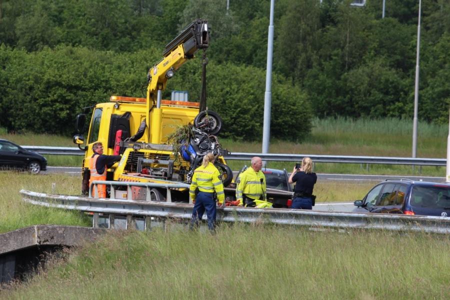 Motorrijder gewond bij ongeval klaverblad A7