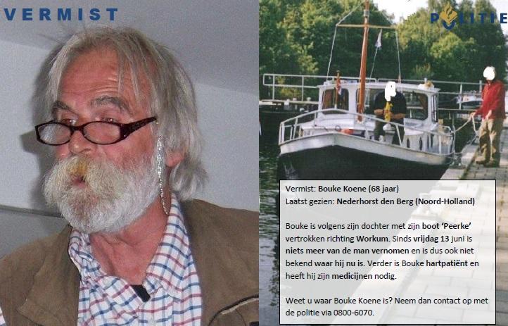 Man met boot vermist