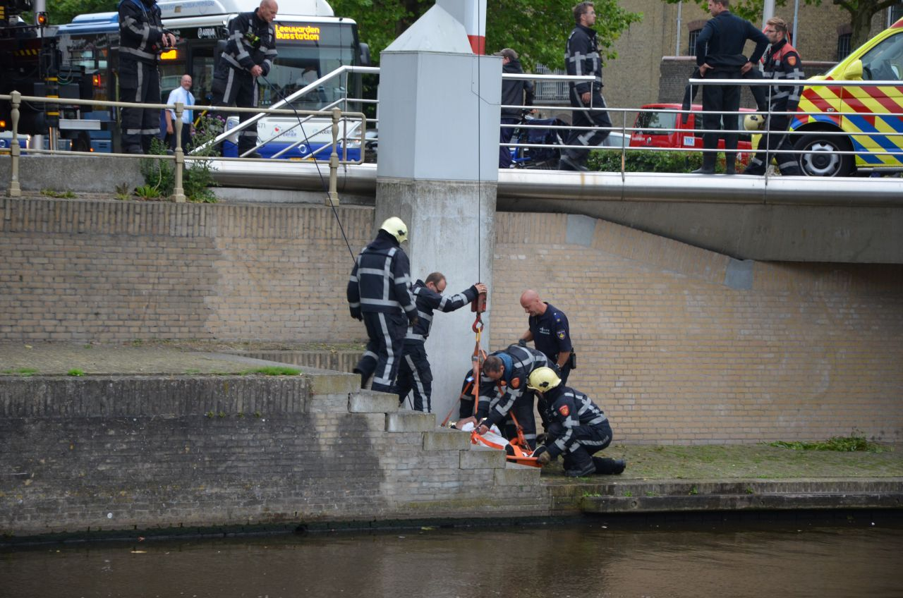 Persoon te water geraakt bij Blokhuisbrug
