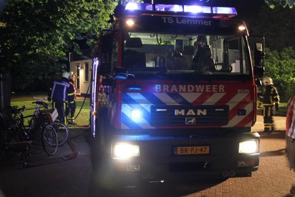 Evacuatie bij brand in zeilschool