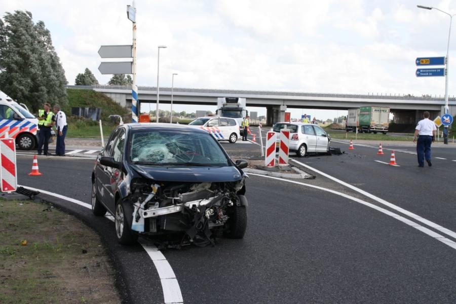 Auto's botsen nabij viaduct Hemriksein