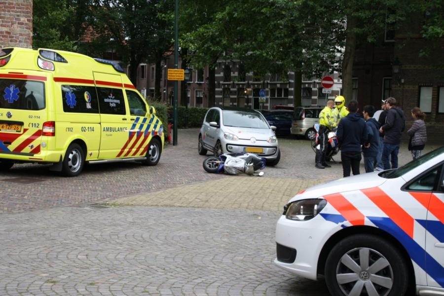 Vandaal bekeurd bij scooterongeval