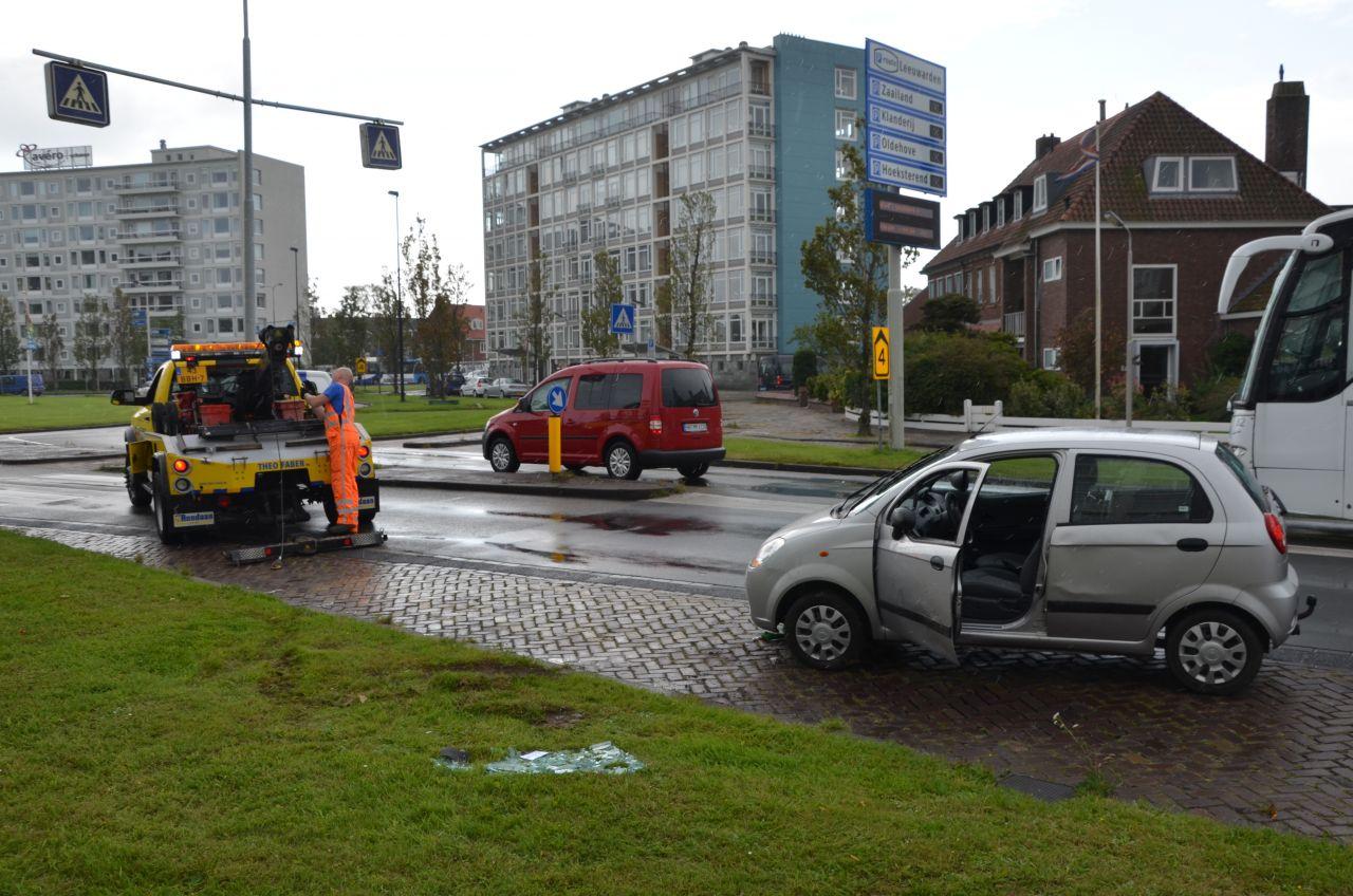 Auto belandt op zijkant bij eenzijdig ongeval