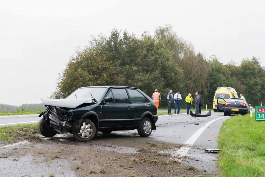 Ongeval op de oprit naar de A32