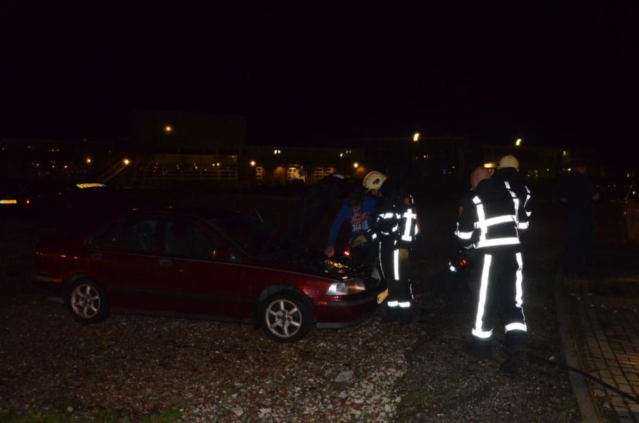Auto beschadigd door brand