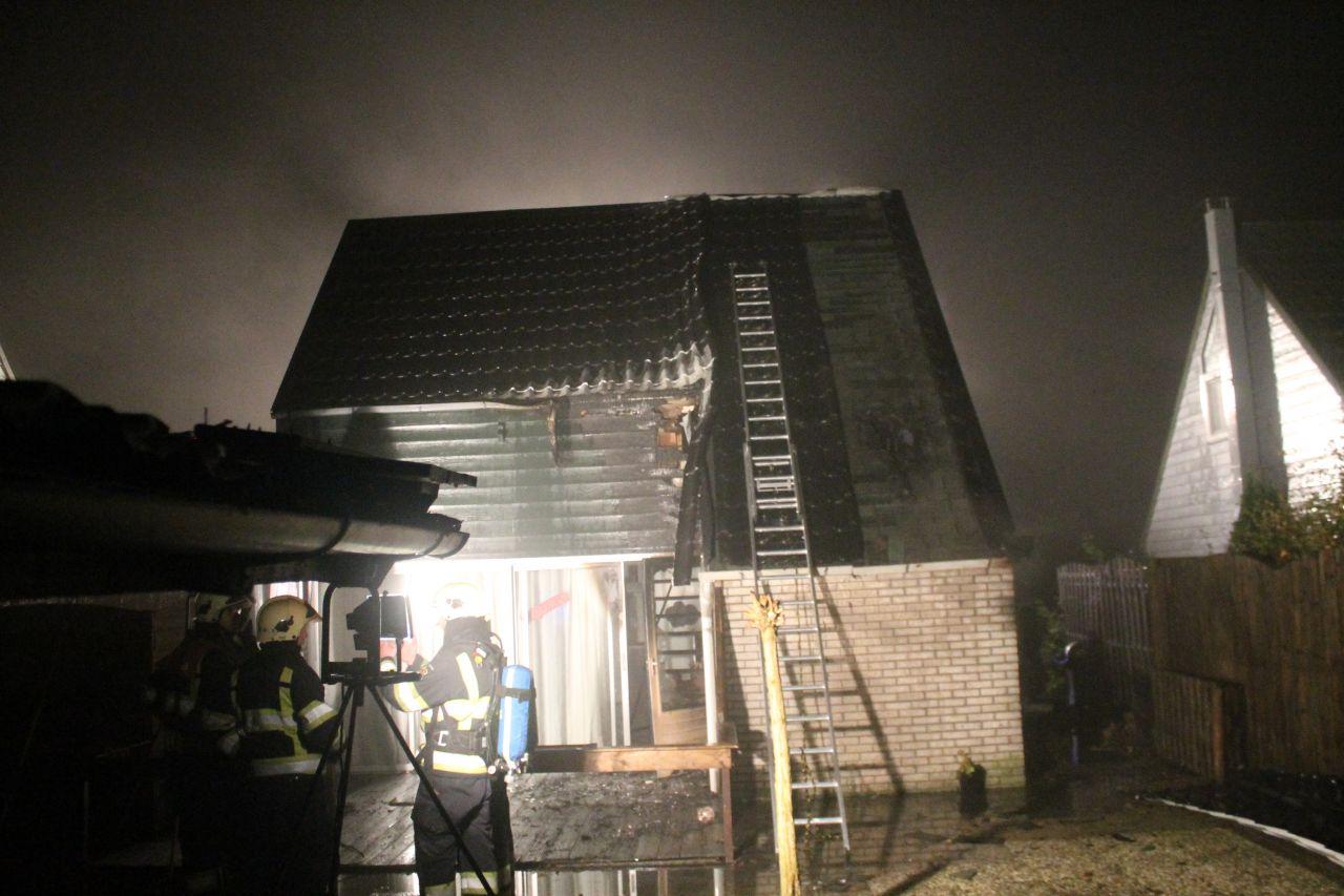 Bungalow fors beschadigd door brand