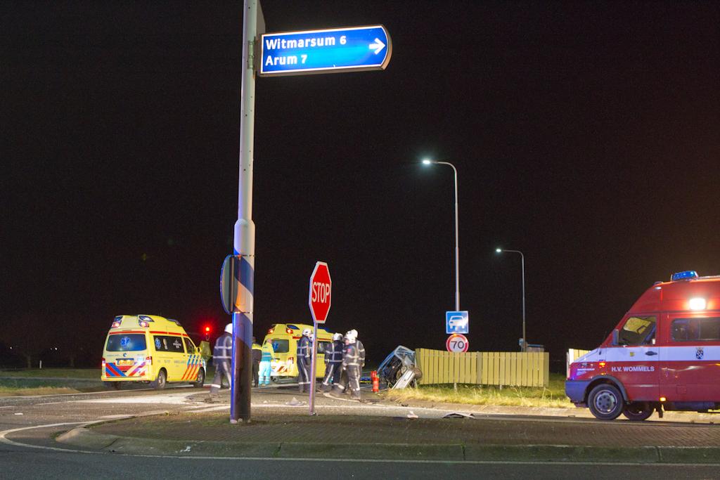 Zwaargewonde bij ongeval Westergoawei