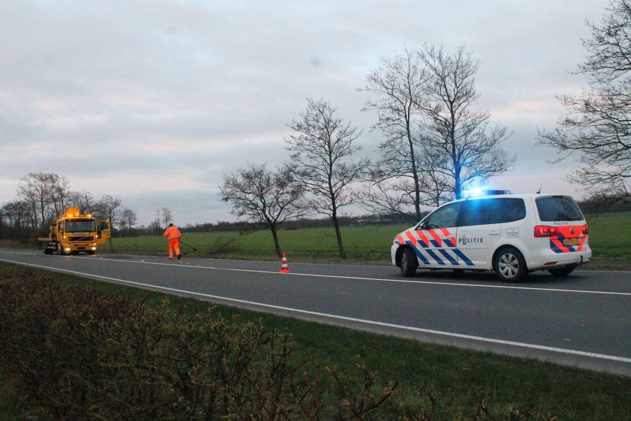 Twee personen gewond bij eenzijdig ongeval