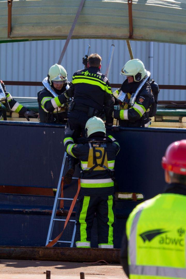 Drugslab op een vrachtschip scenario brandweerwedstrijden
