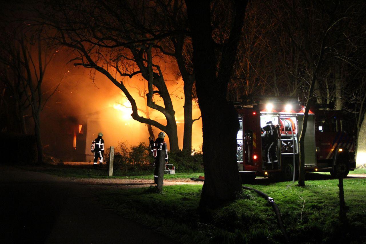 Chalet verwoest door brand