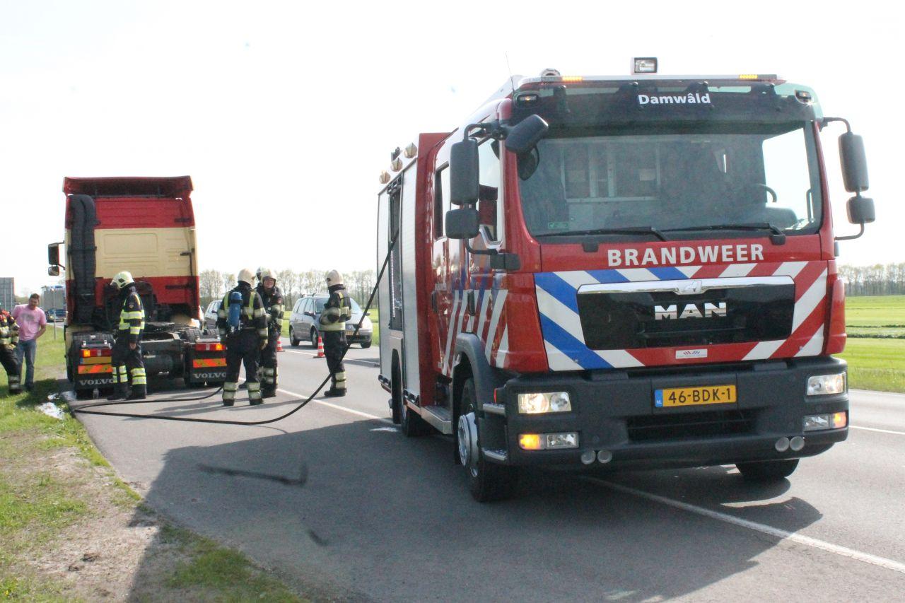 Brandweer ingezet voor vastgelopen remmen