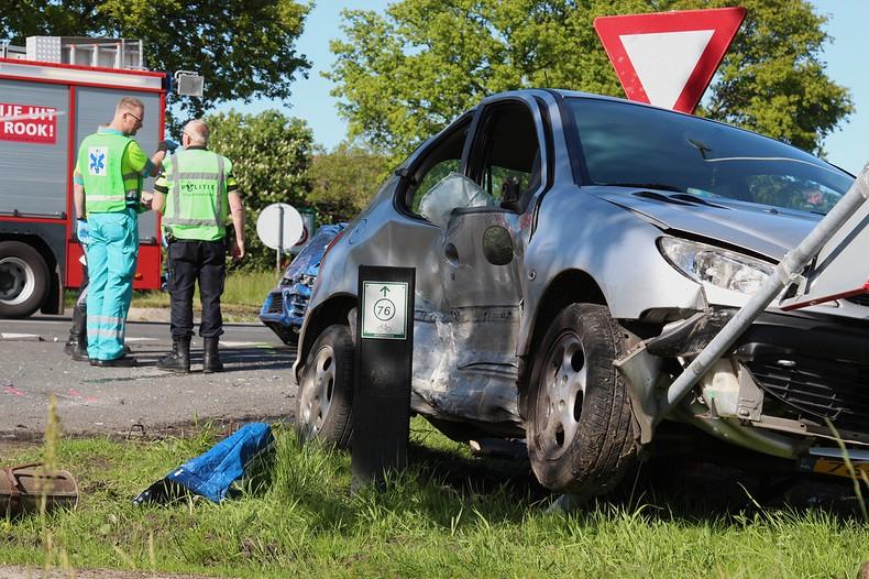 Vier gewonden bij ongeval op provinciegrens