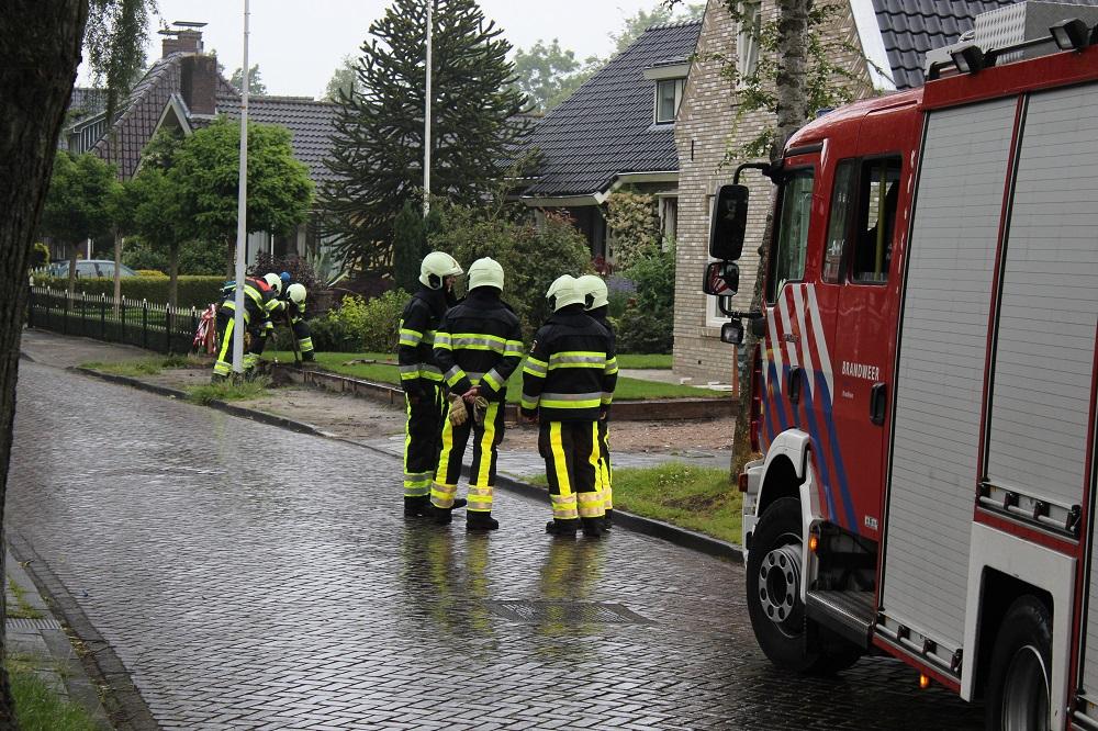 Brandweer in actie voor gaslekkage