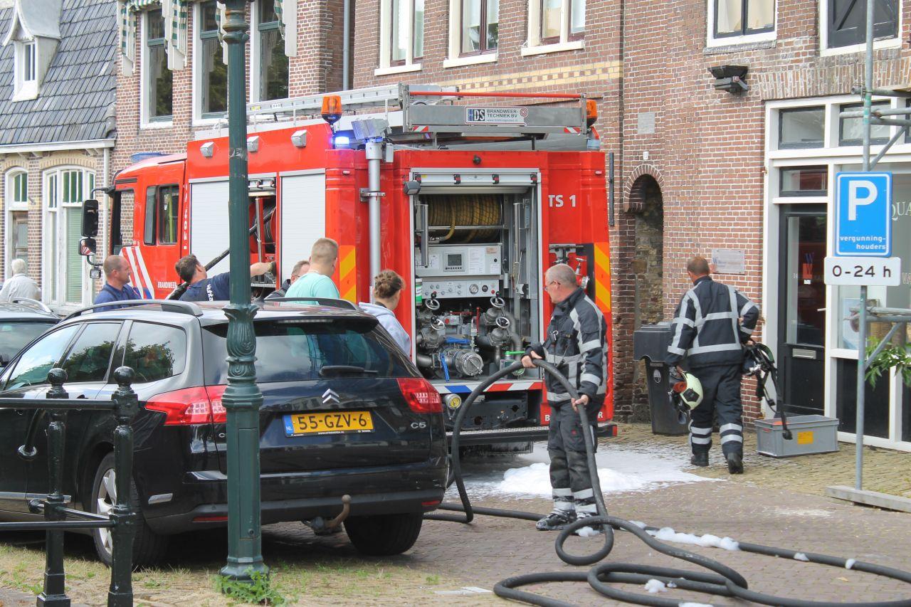 Brand in binnenstad Franeker