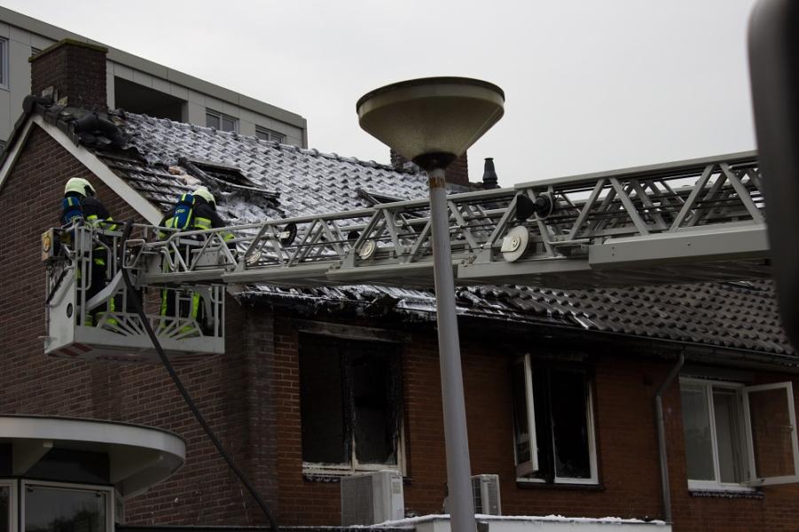 Woning verwoest door uitslaande brand