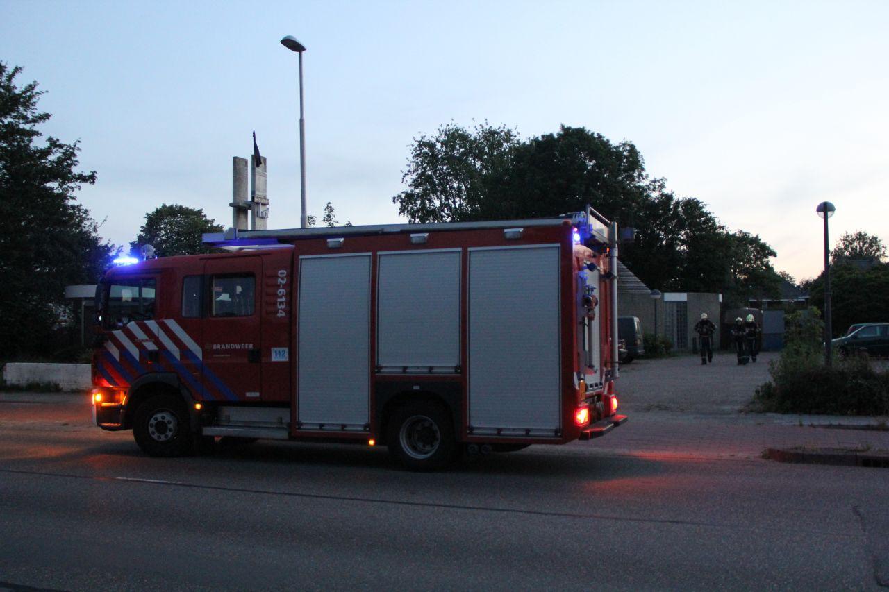 Groot alarm voor woningbrand binnenstad