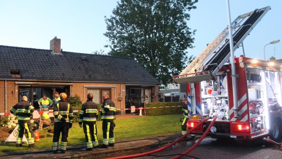 Woning volledig verwoest door brand