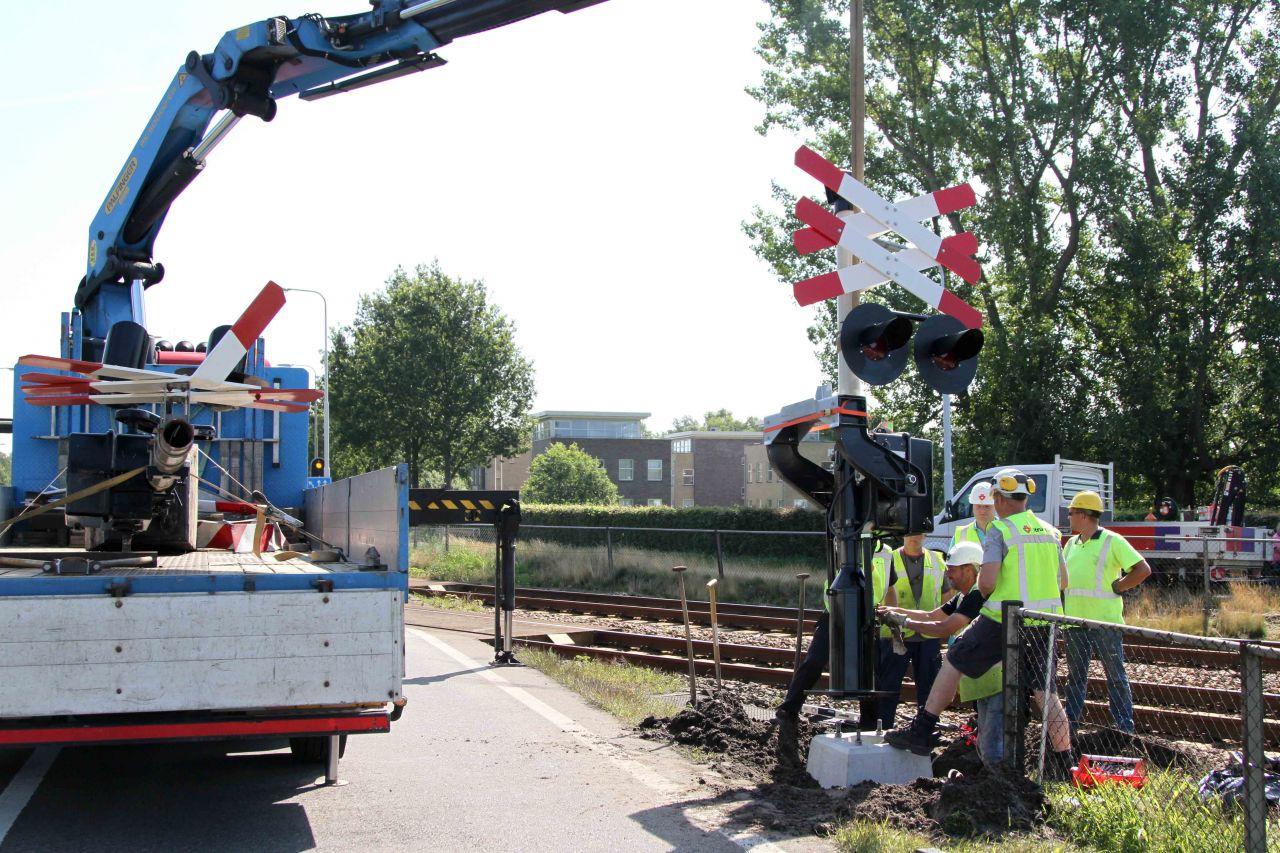 Ravage na éénzijdig ongeval op spoorwegovergang