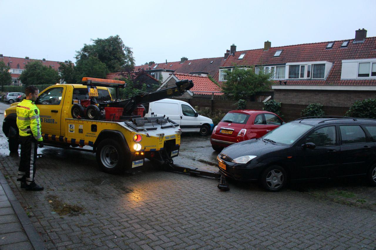 Auto in beslag genomen