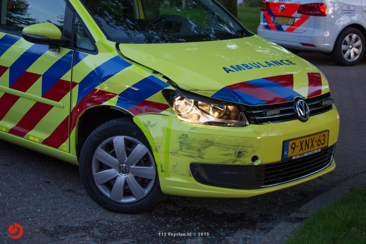 Soloambulance betrokken bij ongeval