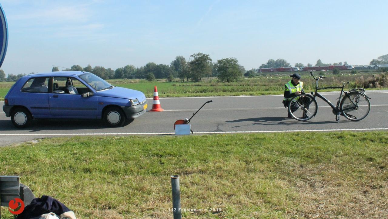 Ongeval tussen fietser en personenauto
