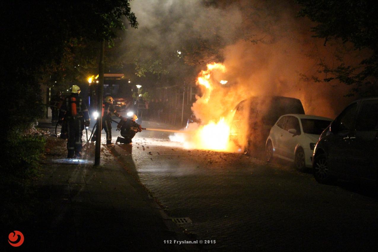 Bmw en busje verwoest door brand