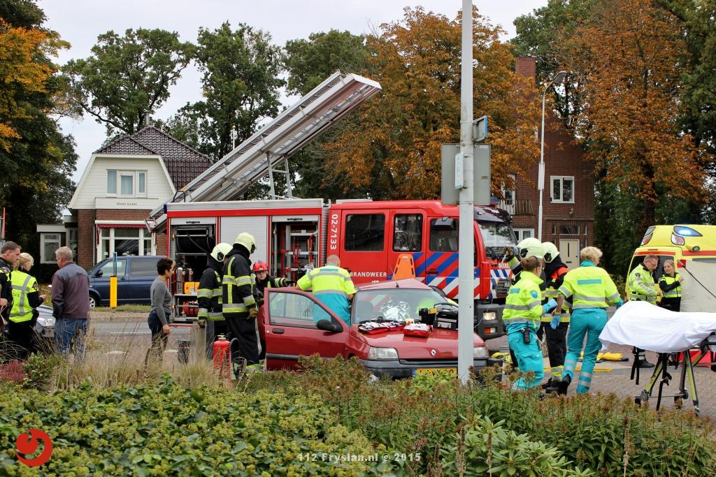 Persoon bekneld bij ernstig ongeval