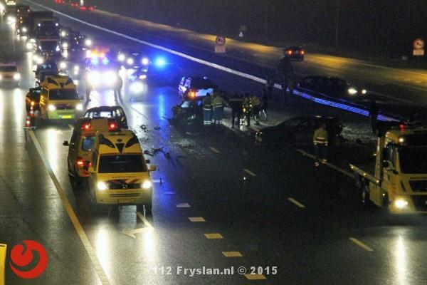 Chaos op snelwegen rondom Heerenveen