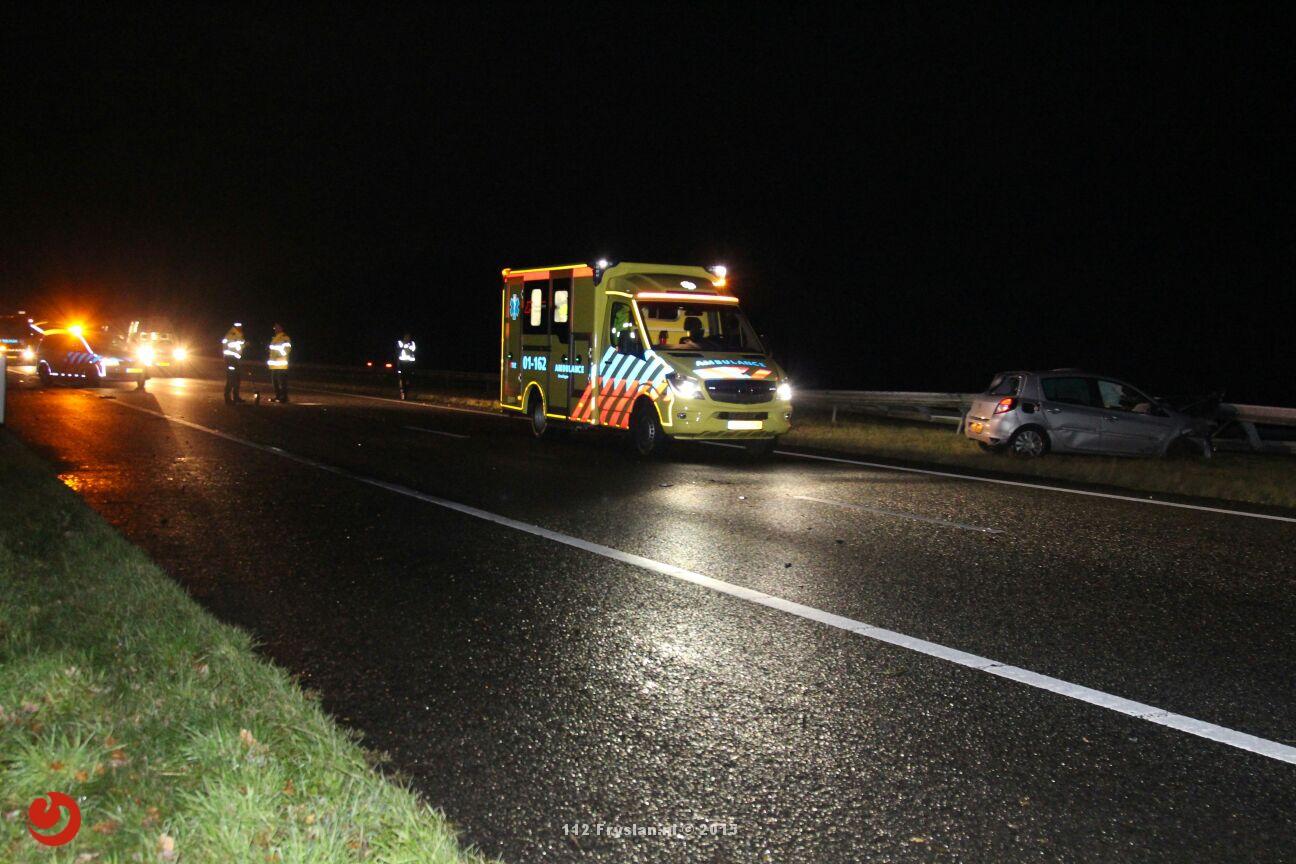 Snelweg A7 afgesloten na ongeval