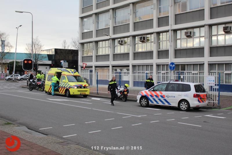 Drie aanrijdingen tegelijk in Leeuwarden
