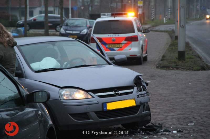 Auto's botsen; geen gewonden