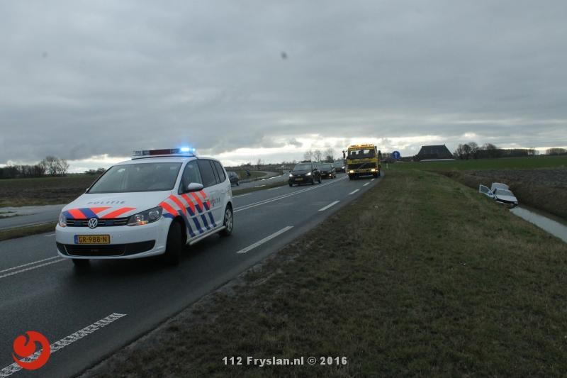 Auto in sloot Ljouwerterdyk – N357