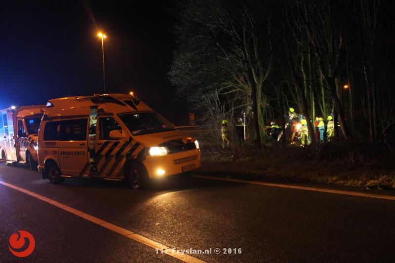 Persoon ernstig gewond na éénzijdig ongeval A7