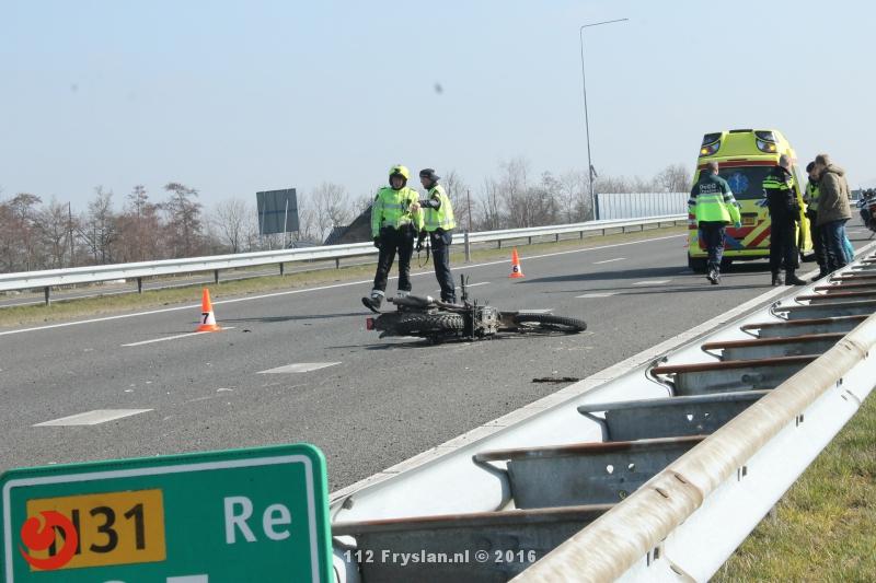 Motorrijder gewond na ongeval op N31