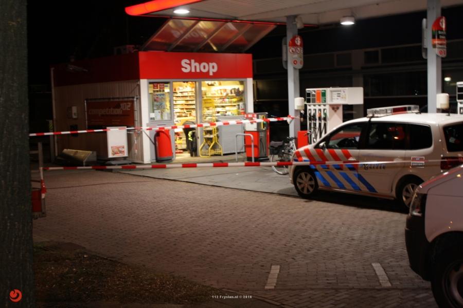 Drie aanhoudingen na overval tankstation Heerenveen