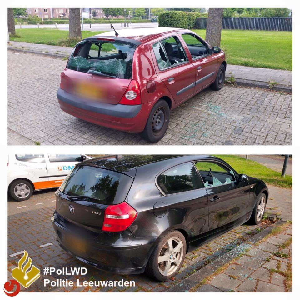 Vernielingen Leeuwarden, politie zoekt getuigen