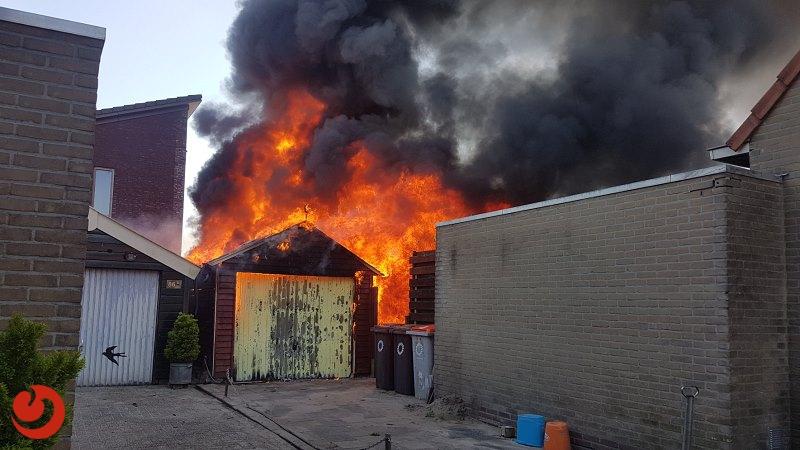 Asbest vrijgekomen bij brand garagebox