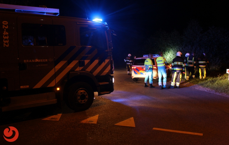 Automobilist vlucht na ongeval Kollumerzwaag